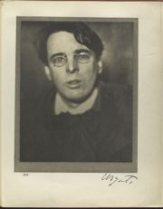 il premio Nobel William Butler Yeats in un fotografia scattata a Dublino nel 1908